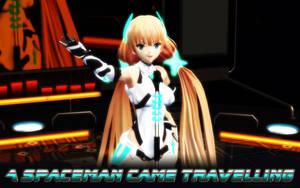 MMD ANGELA - Spaceman - Original Animation by Trackdancer