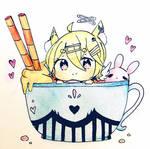 Sugar cup YCH Sample! Yui! by Ebonnii