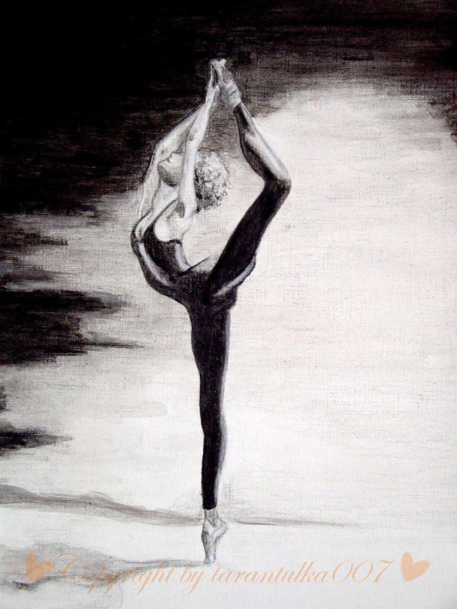 Black And White Ballerina By Tarantulka007
