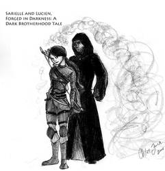 Sarielle and Lucien by Aelwen