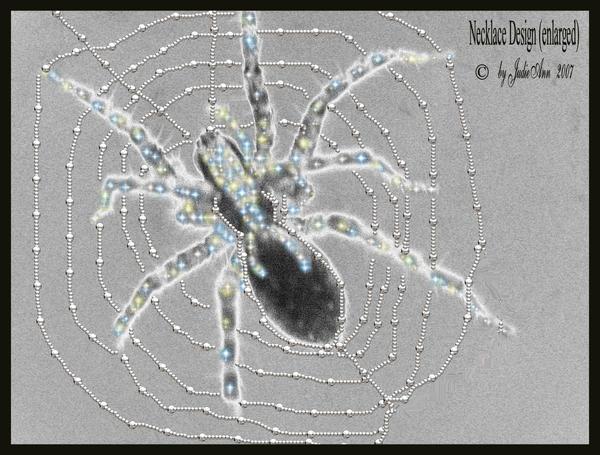 Spider Necklace Design by grandmajudie