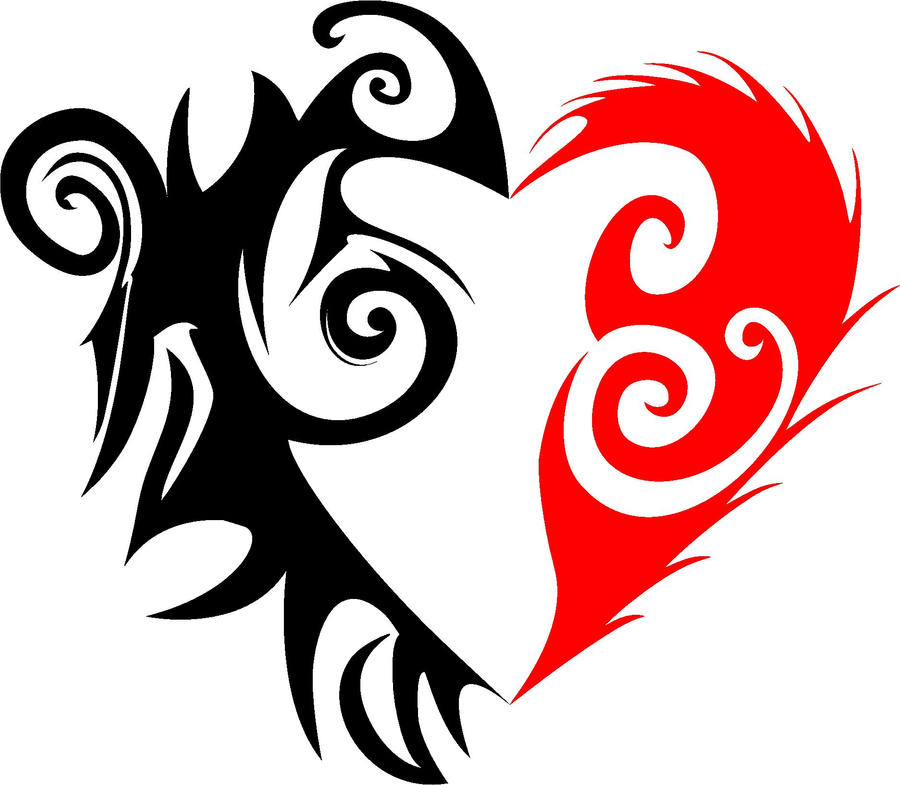 Drawings Of Tribal Hearts Tribal heart by romulo1995