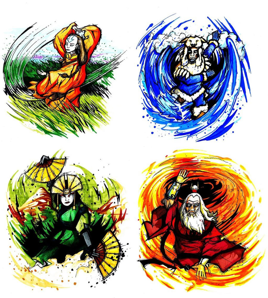 4 Elements Of Art : The four elements by rekmac on deviantart