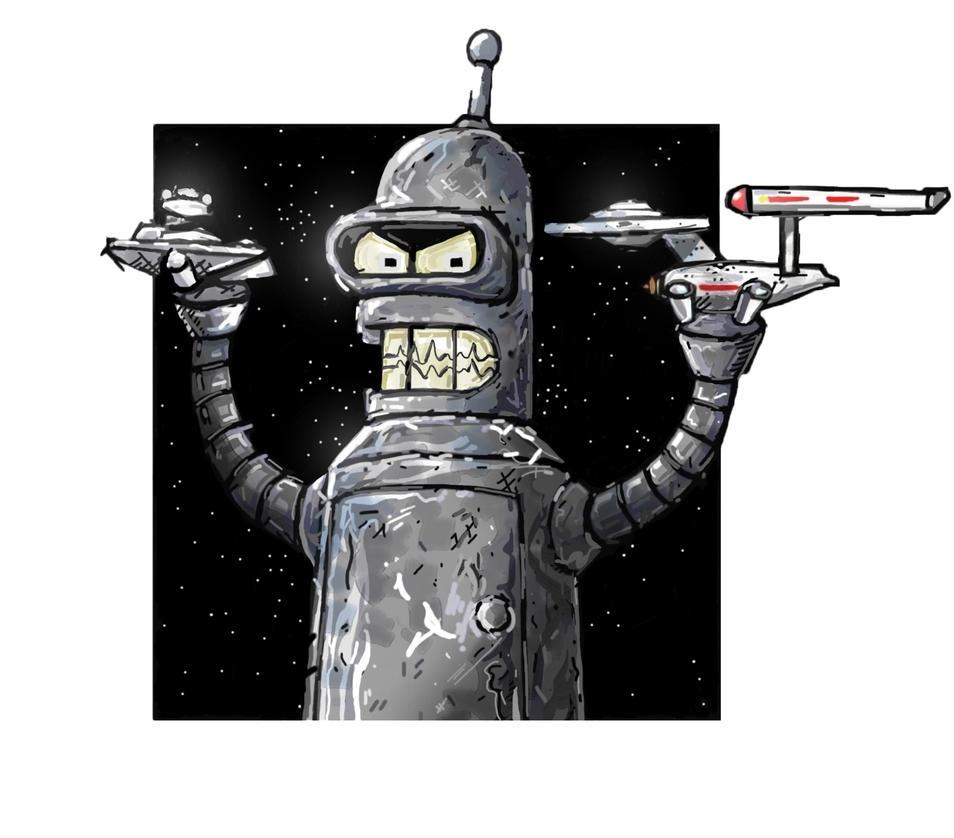 Star Wars vs Star Trek by rekmac