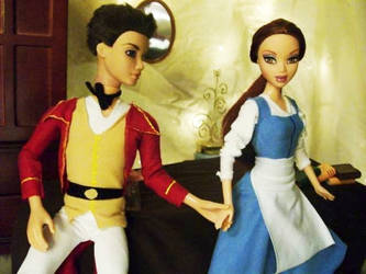 Belle and Gaston by PinkUnicornPrincess