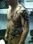 tribal body tattoo