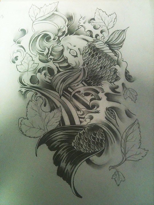 Koi fish drawing outline car interior design for Koi fish water
