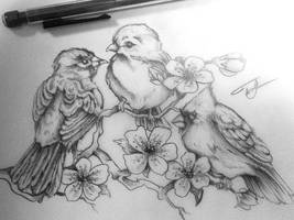three birds by lilmrsfrankenstein