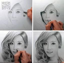 Taeyeon drawing WIP