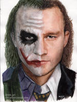 Joker/Heath Ledger by MLS-art