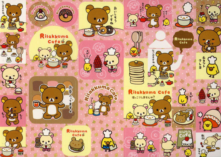 cute rilakkuma cafe by tristan19019