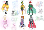 Kirby Gijinka sketches 2