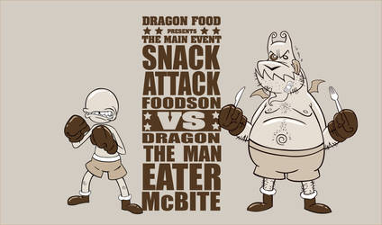 Snack Attack VS The Man Eater by Bourrouet
