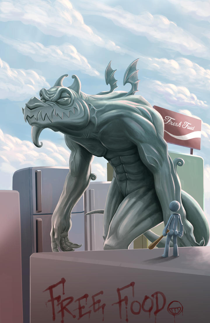 Dragon Food Apocalypse by Bourrouet