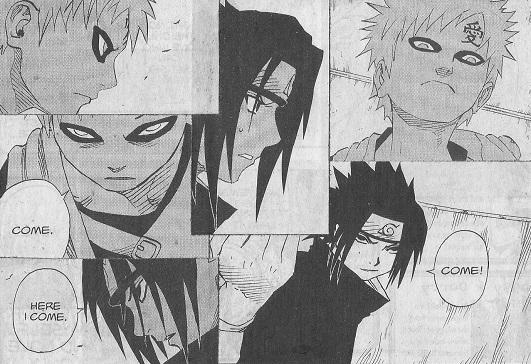 Naruto Art Card: At Last, Sasuke vs Gaara by ...