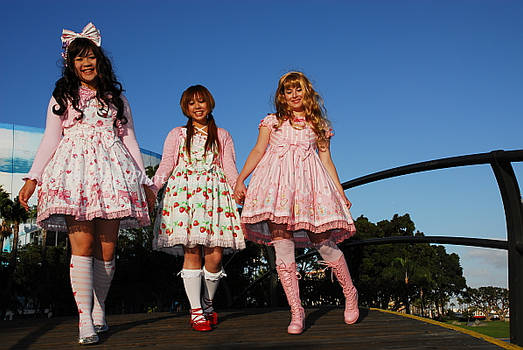 Lolita Pink Bridge Crossing