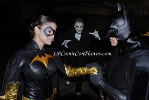 Batman Batwoman darn Joker