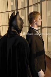 Batman and Joker Looking City