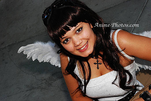 Angel sitting other angle