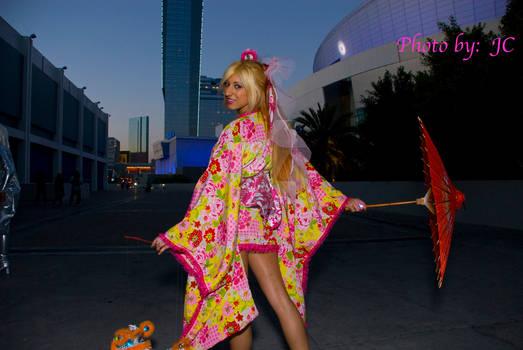 Kimono city lights night shot