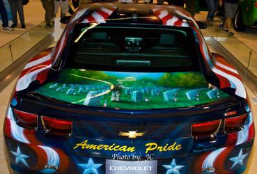 American Pride on American car