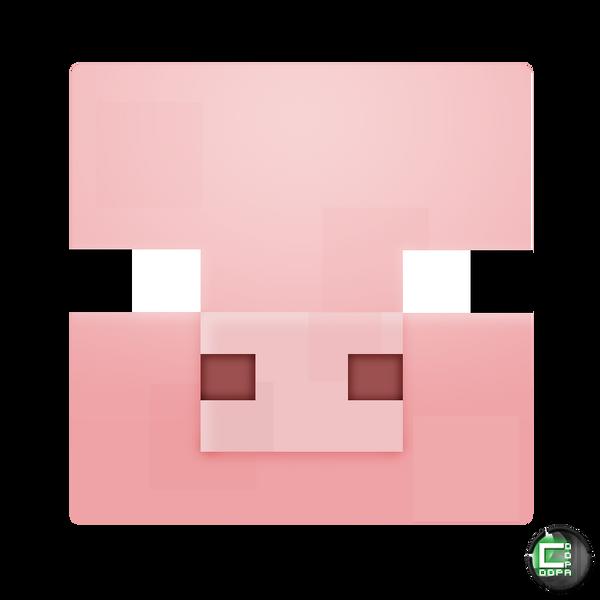 Minecraft Pig Face Minecraft - Pig Head I...