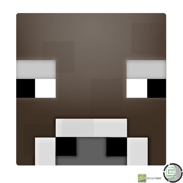 Minecraft Cow Head Icon By CoopaD On DeviantArt - Skin para minecraft pe cow