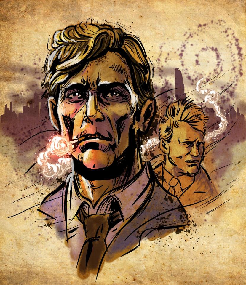 True Detective - Rust and Marty by BlotchComics on DeviantArt
