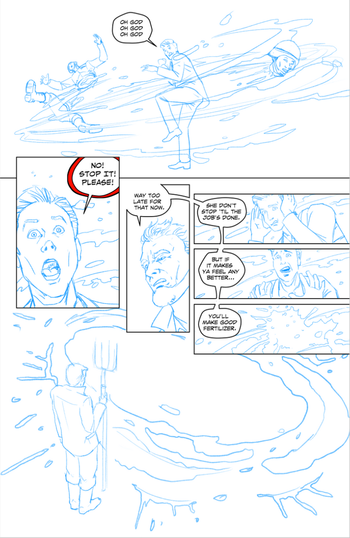 The Monster Within - Page 4 (Pencils) by BlotchComics