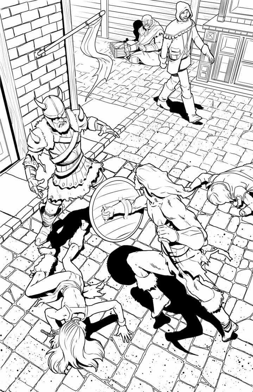 Fantasy Street Fight by BlotchComics