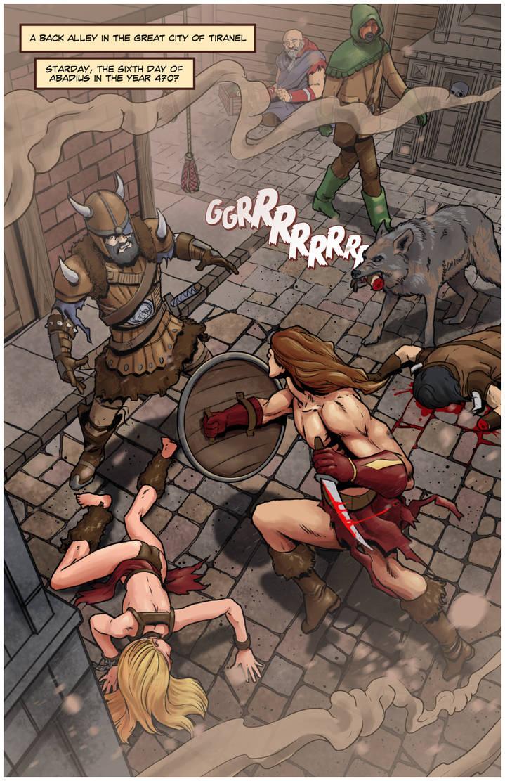 Fantasy Street Fight (Final) by BlotchComics