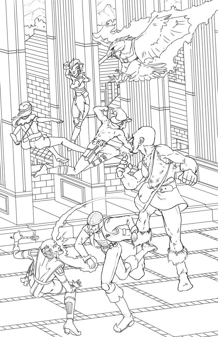 Fantasy Fight (Work in progress) by BlotchComics