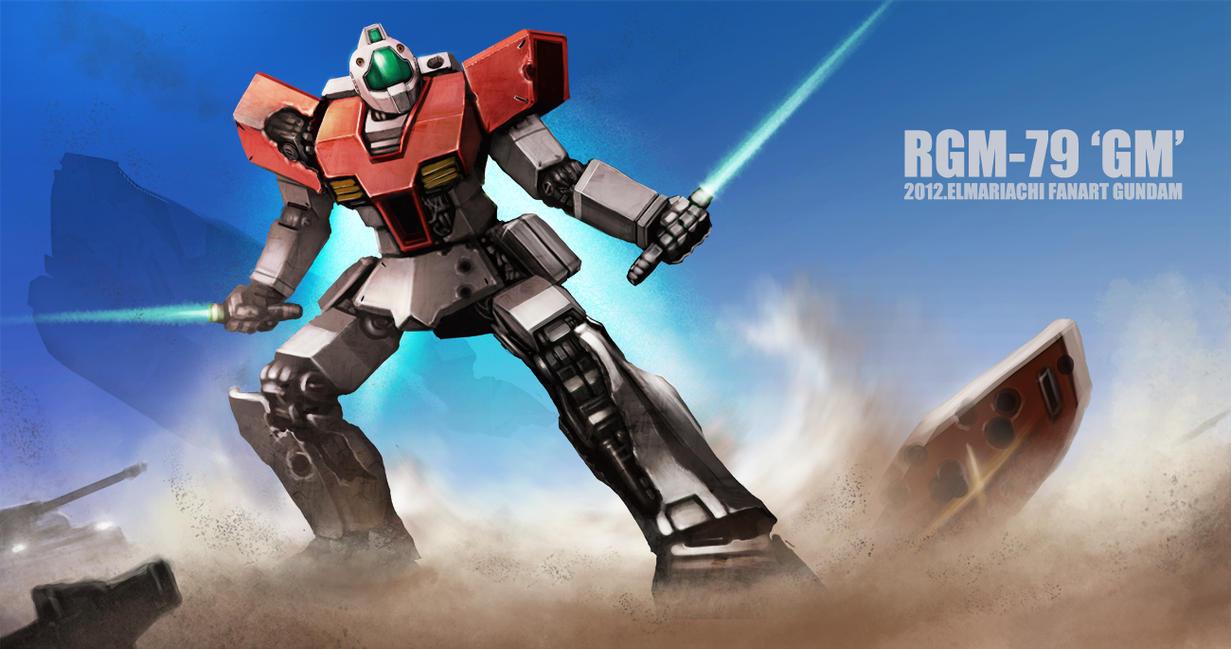 RGM-79 GM Fanart by REAL-ELMARIACHI