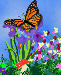 Monarch Butterfly- Illustration for Ms. Hairry