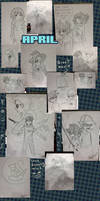 2013 Sketch Commissions: Year In Review by AlexisRoyce