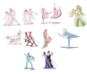 Dancing OCs by AlexisRoyce