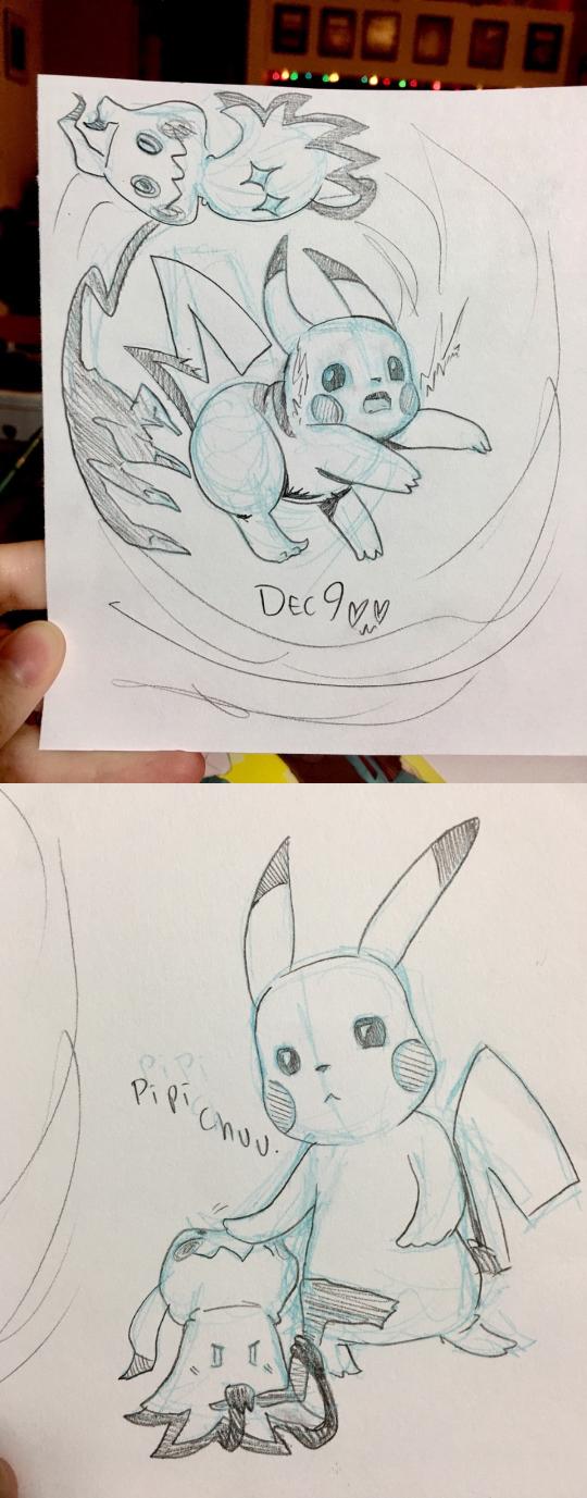 Pikachu and Mimikyu by AlexisRoyce