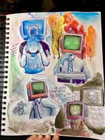 Supergreatfriend Watercolors by AlexisRoyce