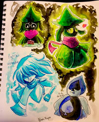 Deltarune Sketches Part One by AlexisRoyce