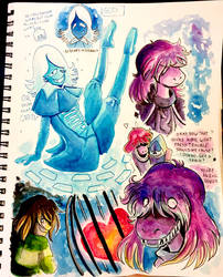 Deltarune Sketches Part Two by AlexisRoyce