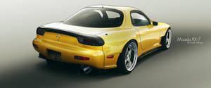 Mazda RX-7 Yellow