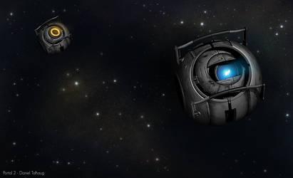 Portal 2: Wheatley in space by DanielTalhaug