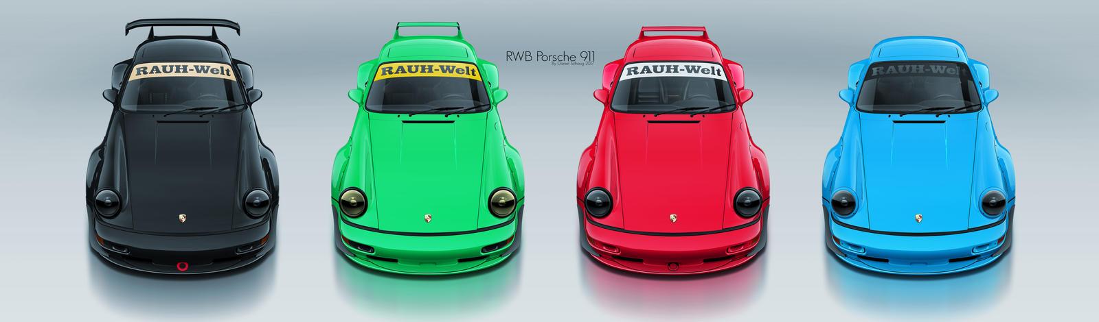 RAUH-Welt BEGRIFF Porsche 911 x4 by DanielTalhaug
