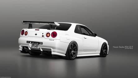 Nissan Skyline R34 GT-R by DanielTalhaug