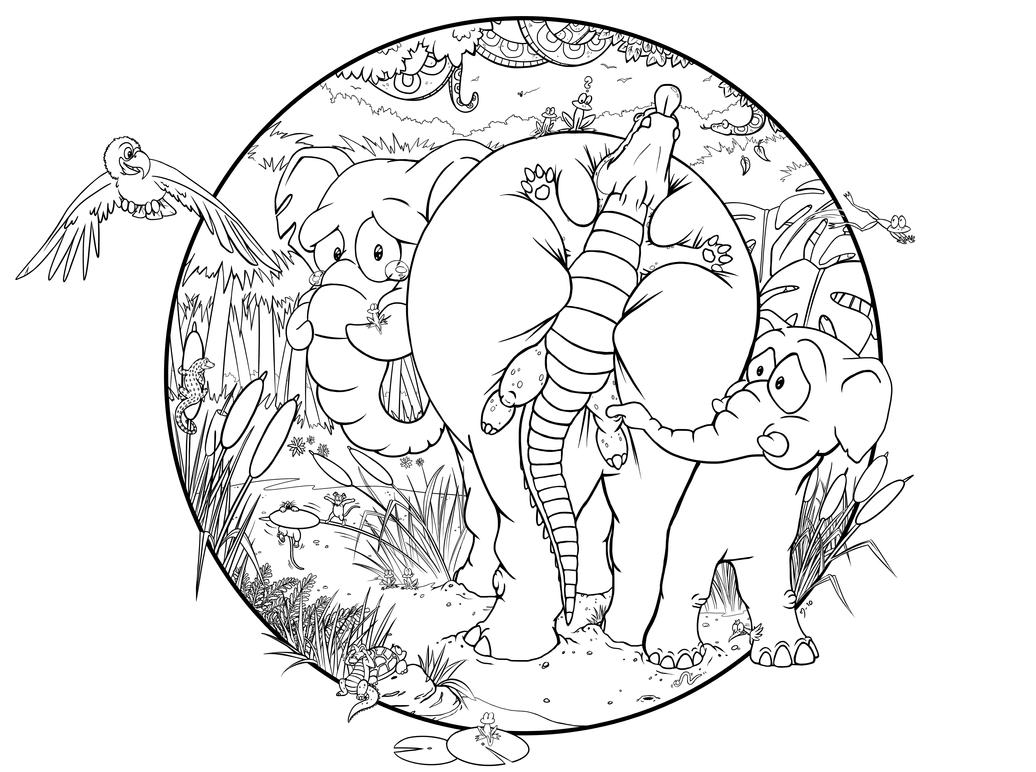 Line Drawing Jungle : Pain in the err jungle lines by demiveemon on deviantart