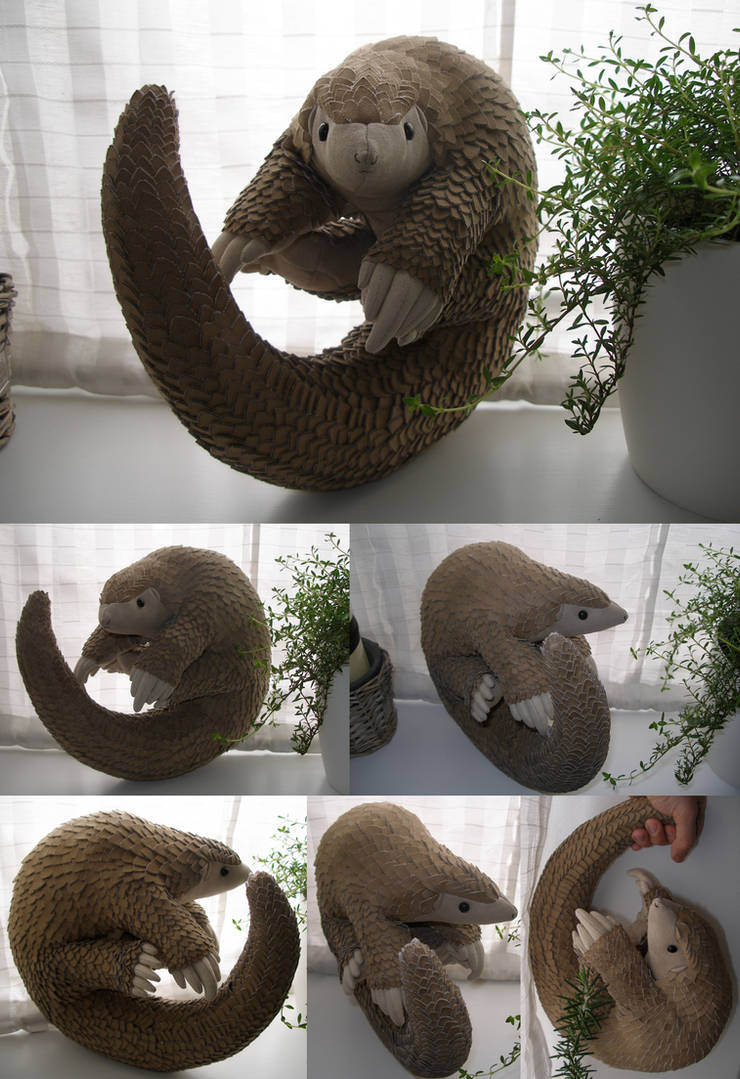 Plush - Willy the Pangolin by demiveemon