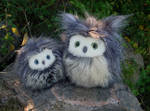 Fuzzy owls now available on Etsy!