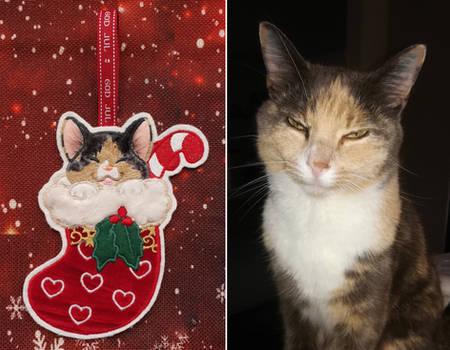 Applique - Christmas kitten 17