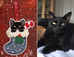 Applique - Christmas kitten 18