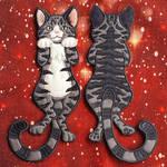 Applique - Hanging cat ornament